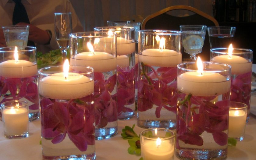 Dendrobium orchid floating candles