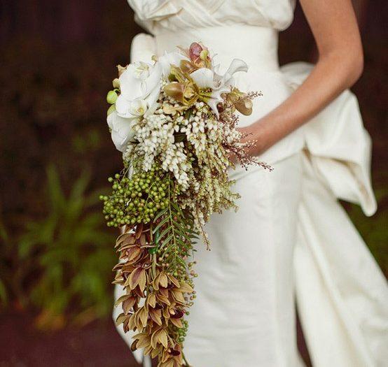 vintage cascading bridal bouquet