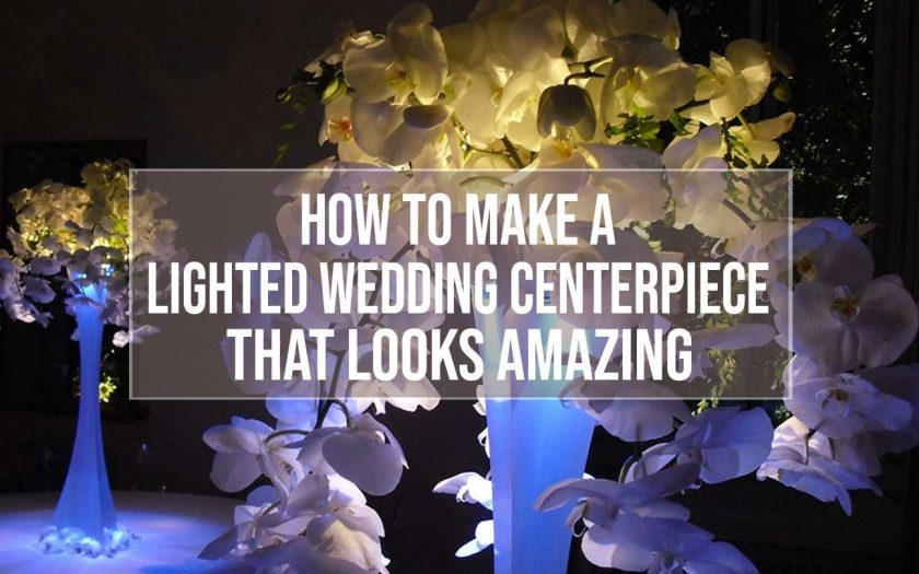lighted wedding centerpiece
