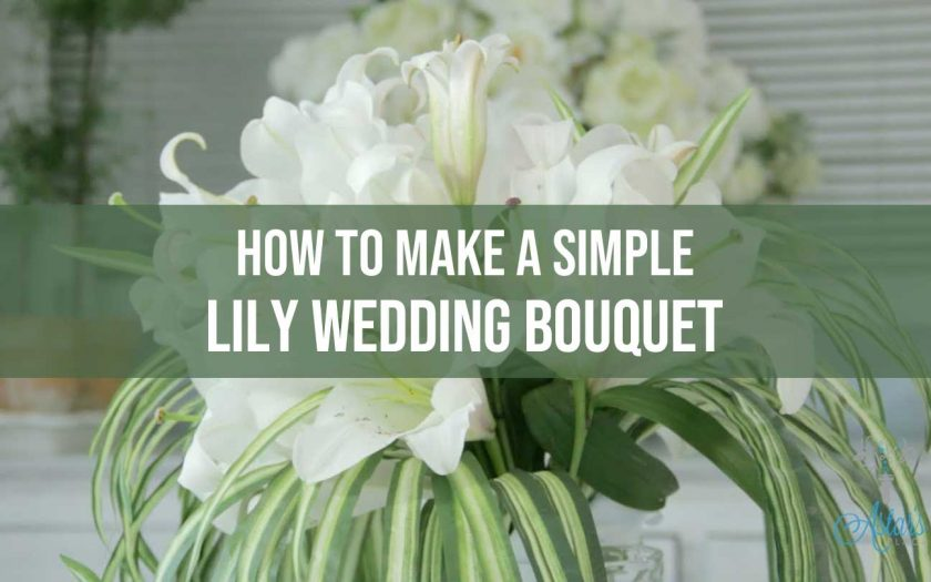 lily wedding bouquet