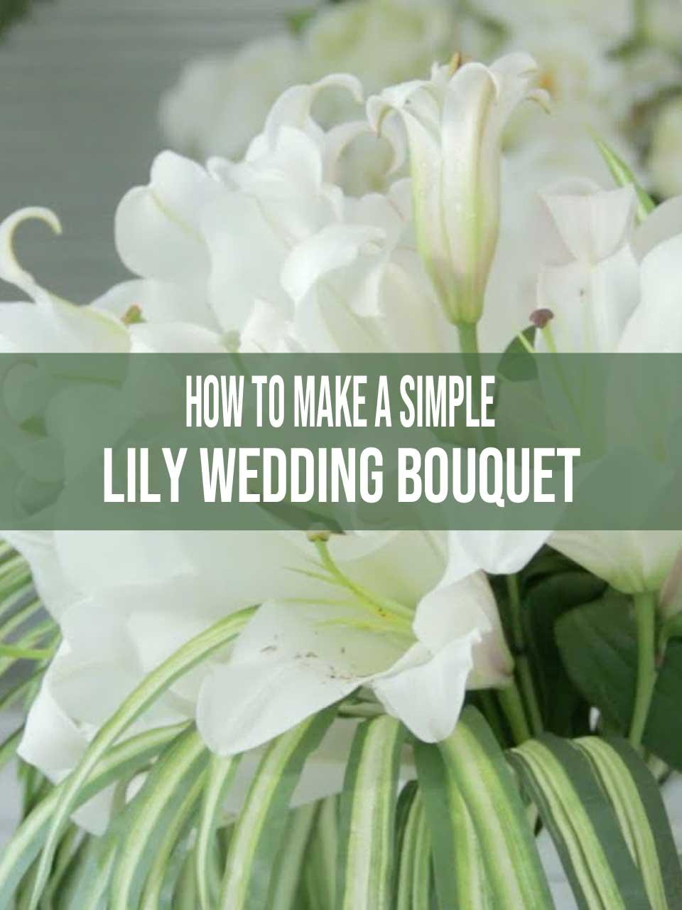 lily wedding bouquet