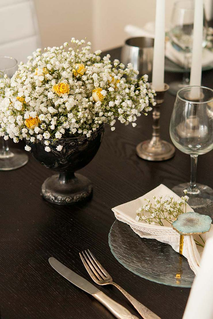 Babys Breath Party Flower Idea