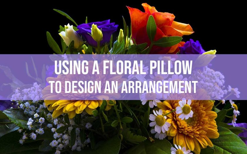 Using a floral pillow