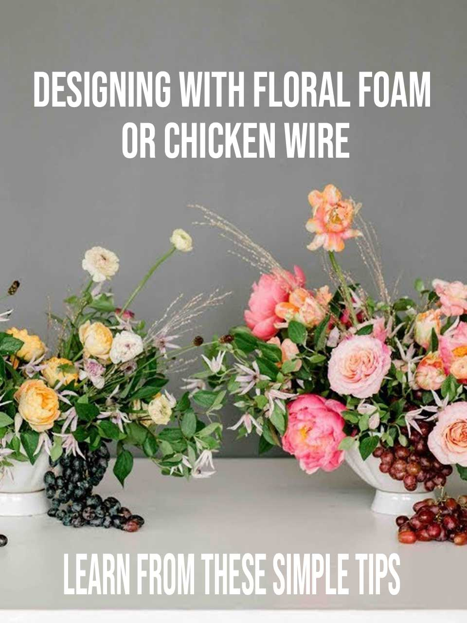 floral foam or chicken wire