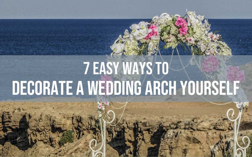 decorate a wedding arch