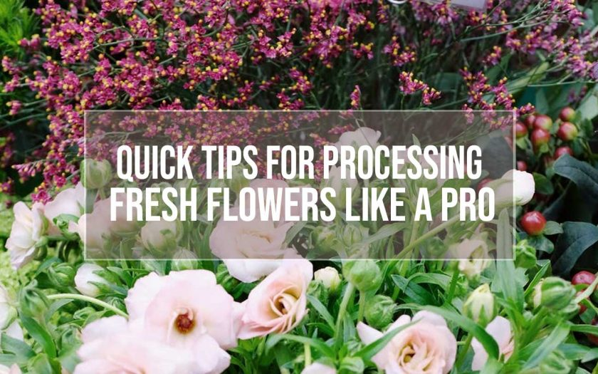 processing fresh flowers